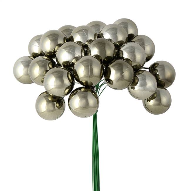 "1"" x 24pc Gunmetal Shiny Ball Pick 2/Pk"