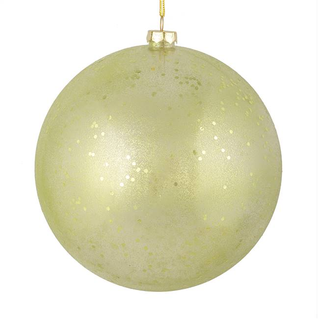 "4.75"" Celadon Glitter Clear Ball 4/Bag"