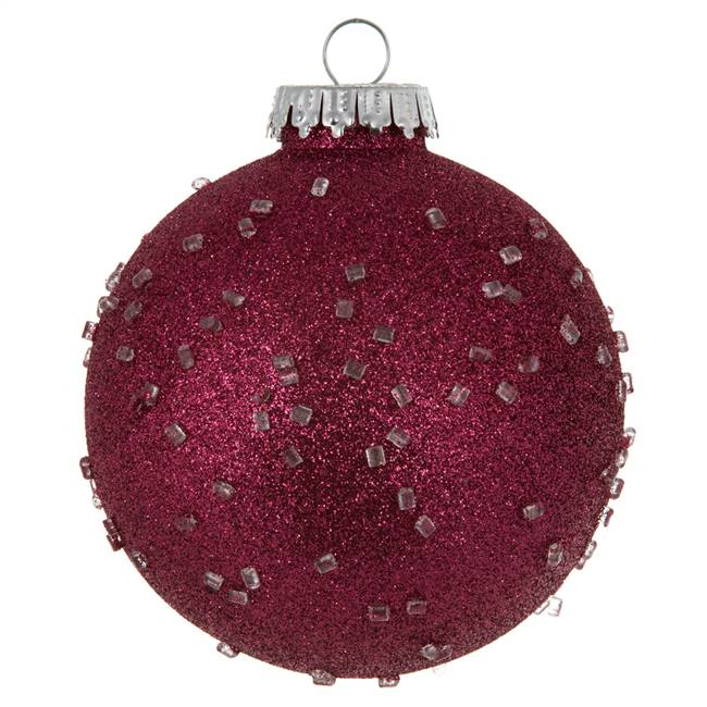 "4"" Berry Red Ice Ball 6/Bag"
