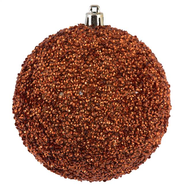 "4"" Copper Beaded Ball Drilled 6/Bag"