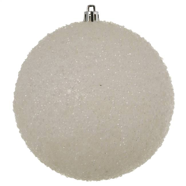 "4.75"" White Beaded Ball Drilled 6/Bag"