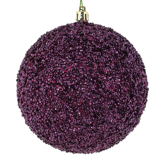 "4.75"" Berry Red Beaded Ball Drill 6/Bg"