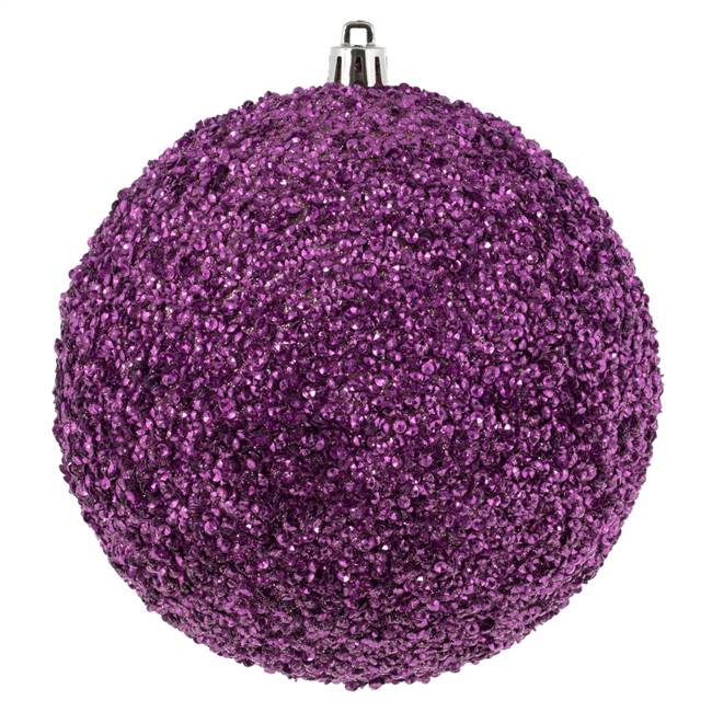 "4.75"" Pink Beaded Ball Drilled 6/Bag"