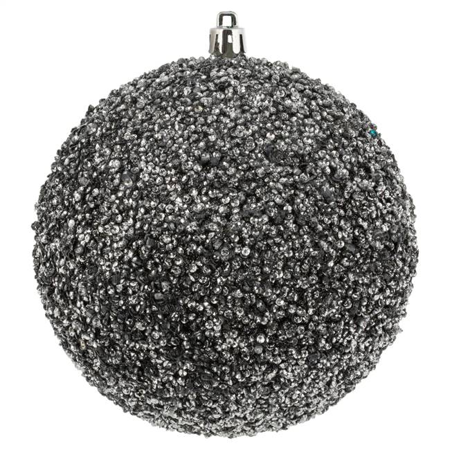"4.75"" Gunmetal Beaded Ball Drill 6/Bag"