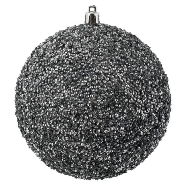 "4.75"" Pewter Beaded Ball Drilled 6/Bag"