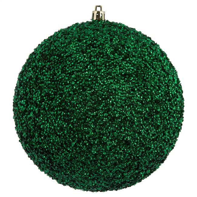 "6"" Midnight Grn Beaded Ball Drill 4/Bg"
