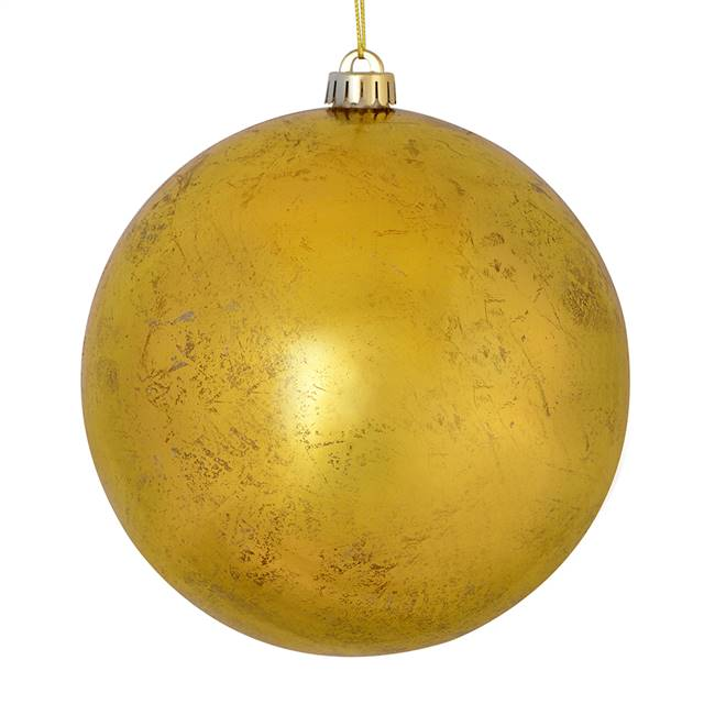 "4"" Gold Foil Finish Ball 6/Bag"