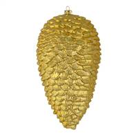 "7"" Gold Matte Glitter Pinecone 4/Bag"