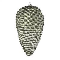 "7"" Wrought Iron Matte Glitt Pinecone 4Bg"