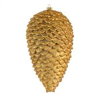 "7"" Copper Gold Matte Glitt Pinecone 4/Ba"