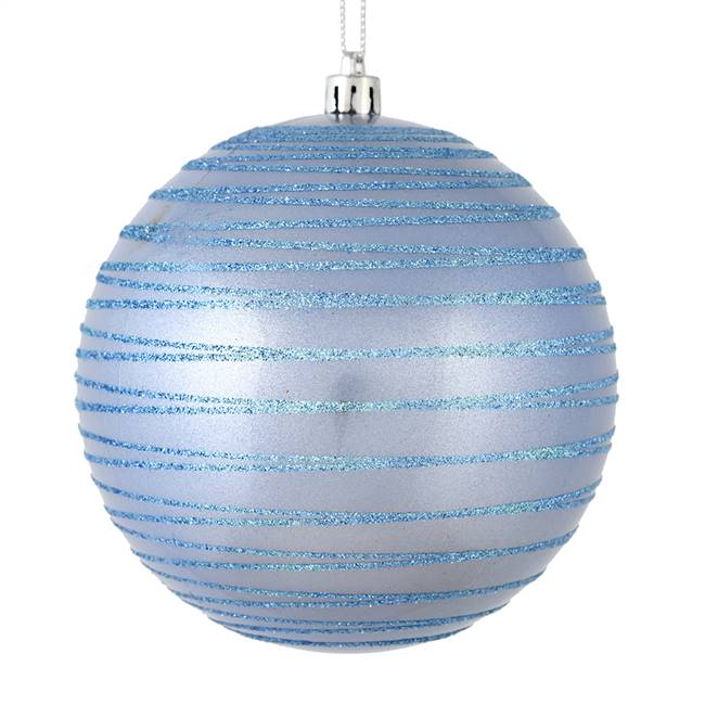 "4"" Periwinkle Candy Glitter Ball 4/Bag"