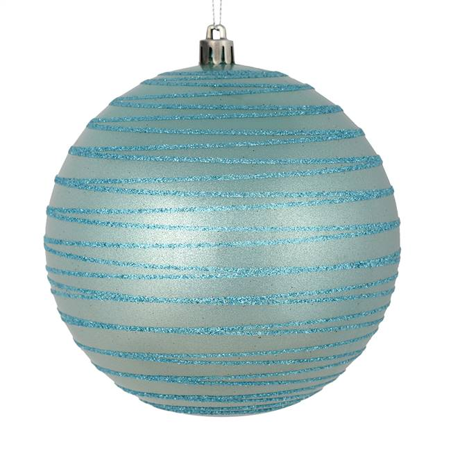 "4"" Baby Blue Candy Glitter Ball 4/Bag"