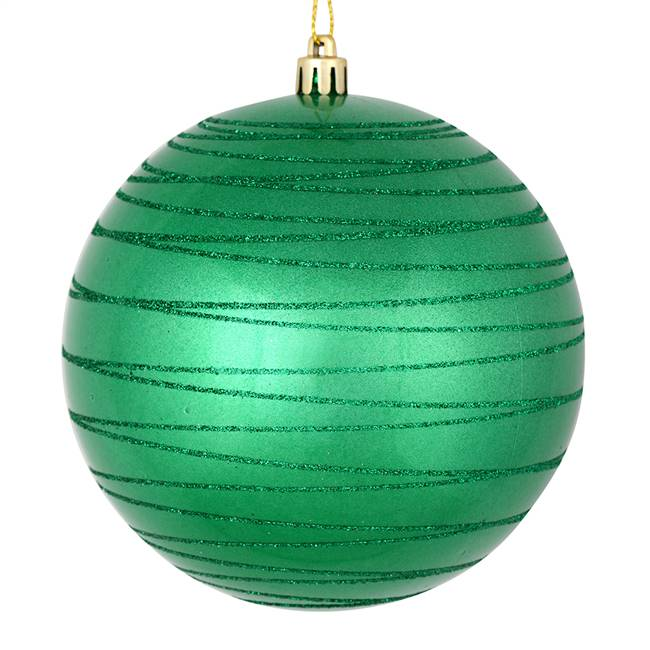 "4"" Seafoam Green Candy Glitter Ball 4/Ba"
