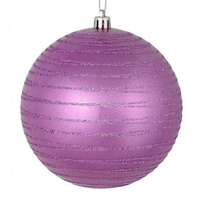 "4"" Orchid Candy Glitter Ball 4/Bag"
