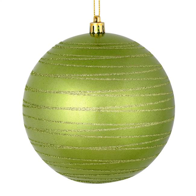 "4.75"" Celadon Candy Glitter Ball 4/Bag"