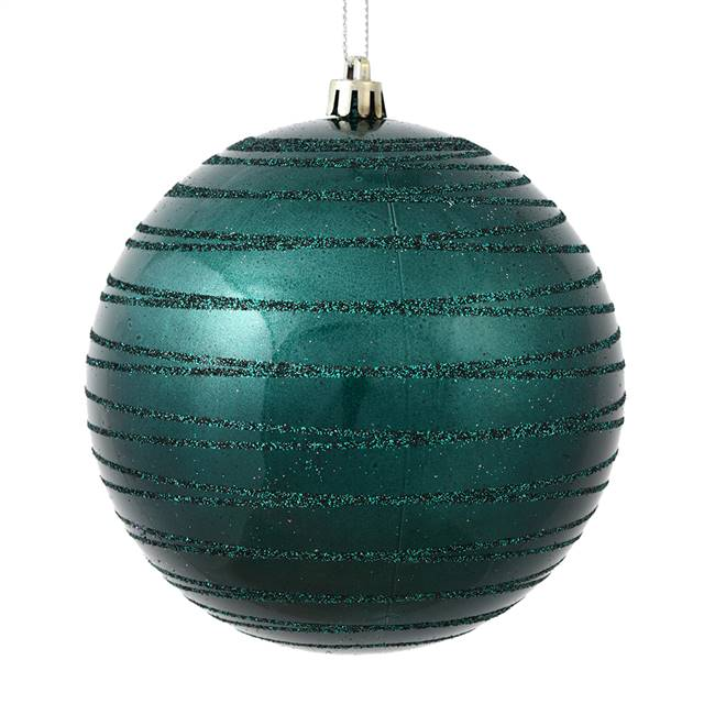 "4.75"" Sea Blue Candy Glitter Ball 4/Bag"