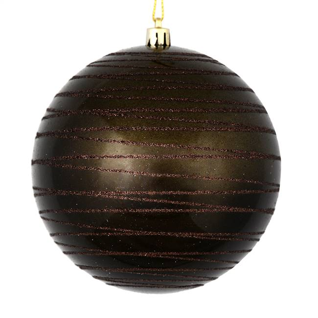 "4.75"" Gunmetal Candy Glitter Ball 4/Bag"