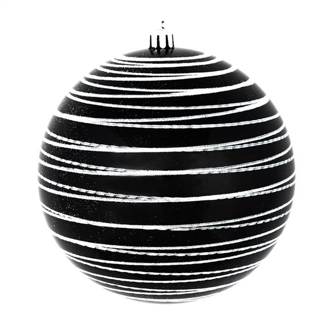 "6"" Black Candy Glitter Ball 3/Bag"