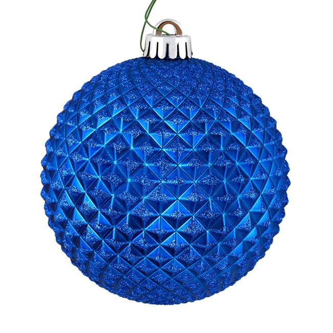 "4"" Blue Durian Glitter Ball 6/Bag"