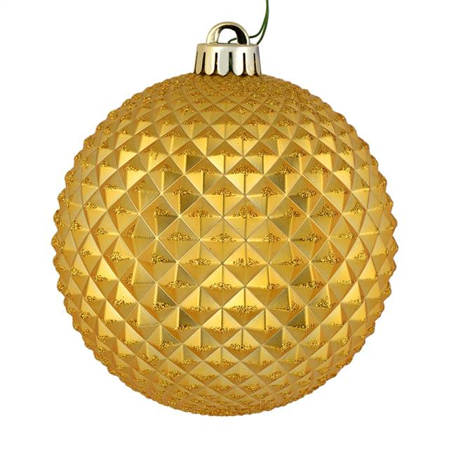 "4"" Honey Gold Durian Glitter Ball 6/Bag"