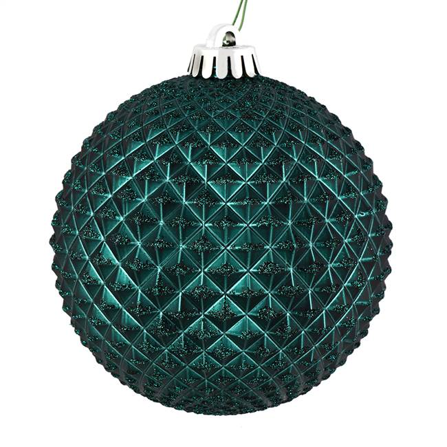"4"" Sea Blue Durian Glitter Ball 6/Bag"