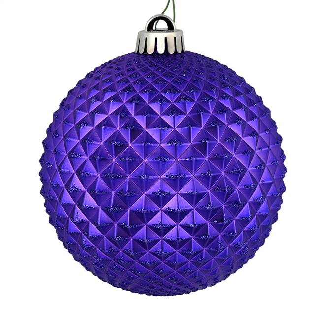 "4"" Purple Durian Glitter Ball 6/Bag"