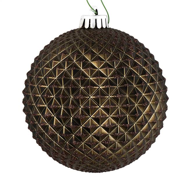 "4"" Gunmetal Durian Glitter Ball 6/Bag"