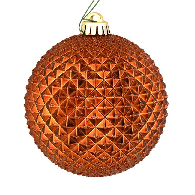 "4"" Copper Durian Glitter Ball 6/Bag"