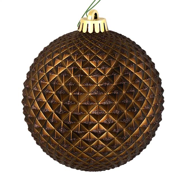 "6"" Chocolate Durian Glitter Ball Drill 4"
