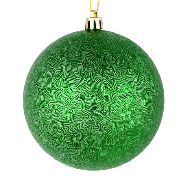"4"" Green Brushed Ball 6/Bag"