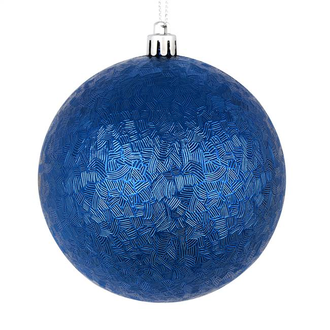 "4"" Midnight Blue Brushed Ball 6/Bag"