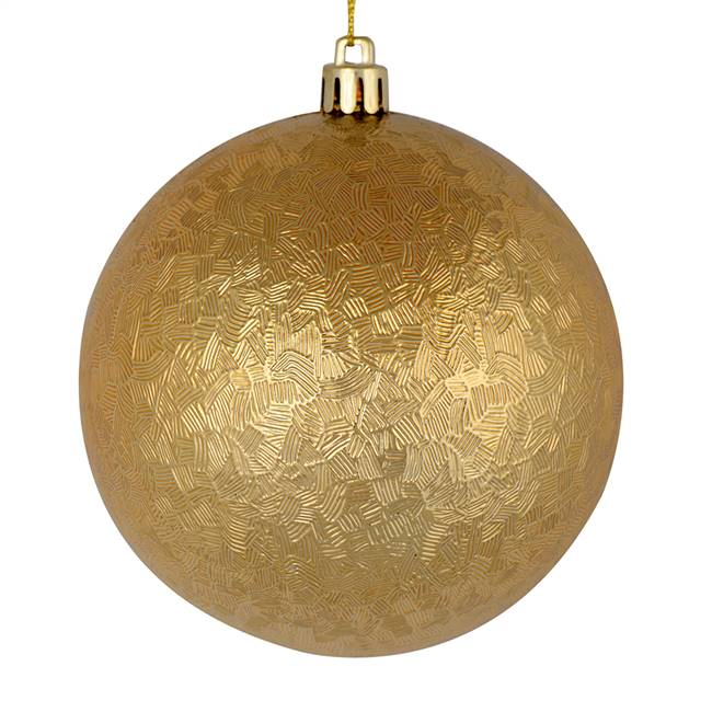 "4"" Copper Gold Brushed Ball 6/Bag"
