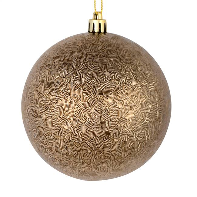 "4"" Mocha Brushed Ball 6/Bag"