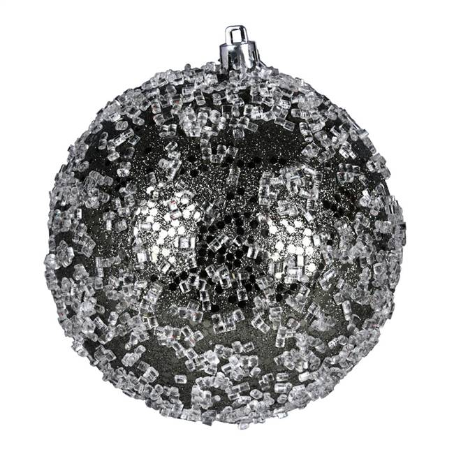 "4"" Wrought Iron Glitter Hail Ball 6/Bag"