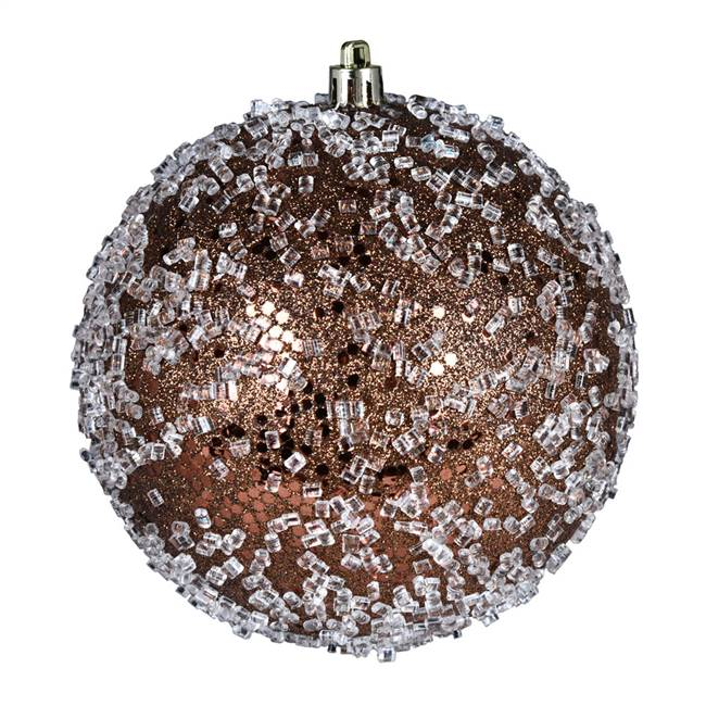 "4"" Mocha Glitter Hail Ball 6/Bag"