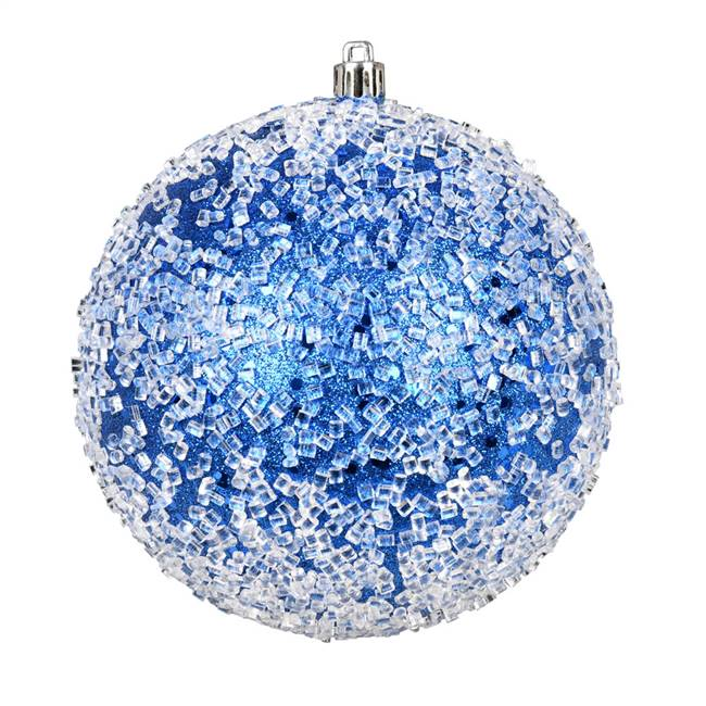 "4.75"" Blue Glitter Hail Ball 4/Bag"