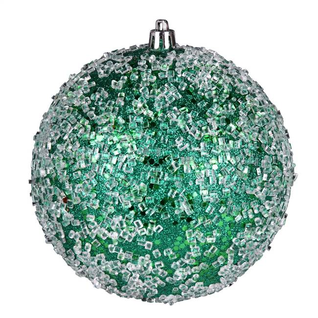 "4.75"" Seafm Green Glitter Hail Ball 4/Bg"