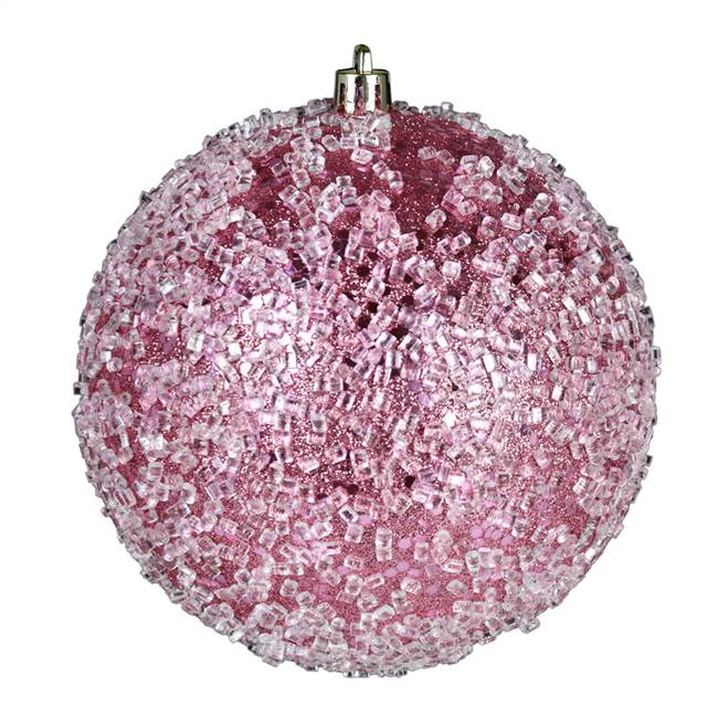 "4.75"" Mauve Glitter Hail Ball 4/Bag"