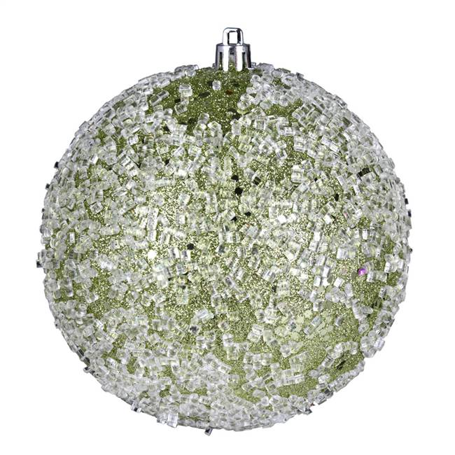 "4.75"" Celadon Glitter Hail Ball 4/Bag"