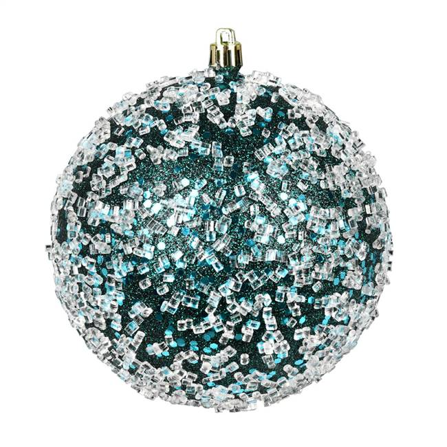 "4.75"" Sea Blue Glitter Hail Ball 4/Bag"