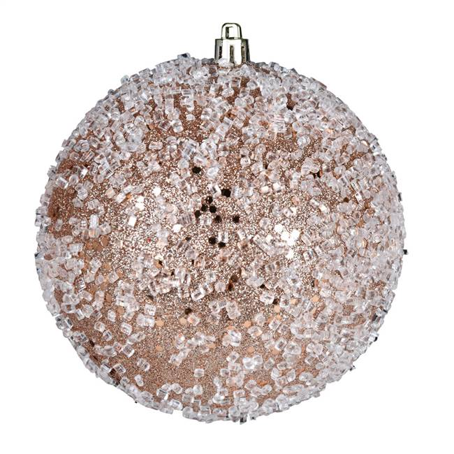 "4.75"" Cafe Latte Glitter Hail Ball 4/Bag"