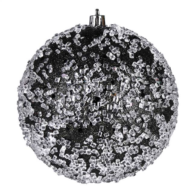 "4.75"" Gunmetal Glitter Hail Ball 4/Bag"