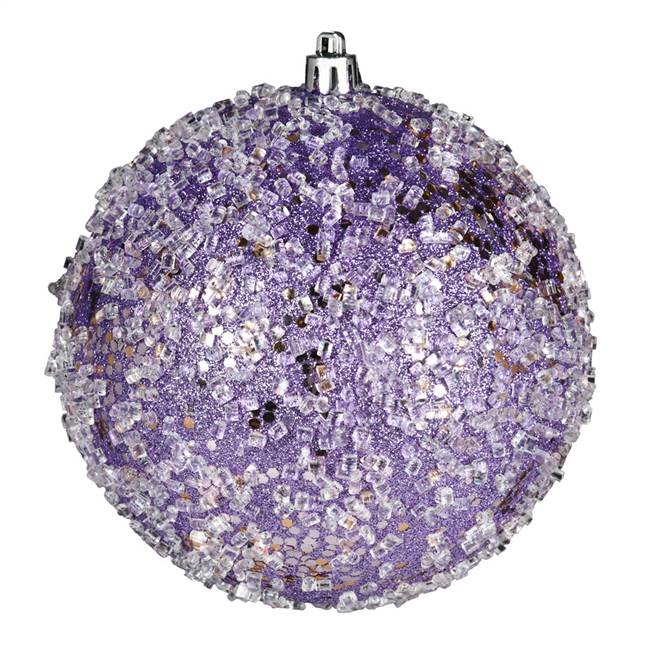 "4.75"" Lavender Glitter Hail Ball 4/Bag"