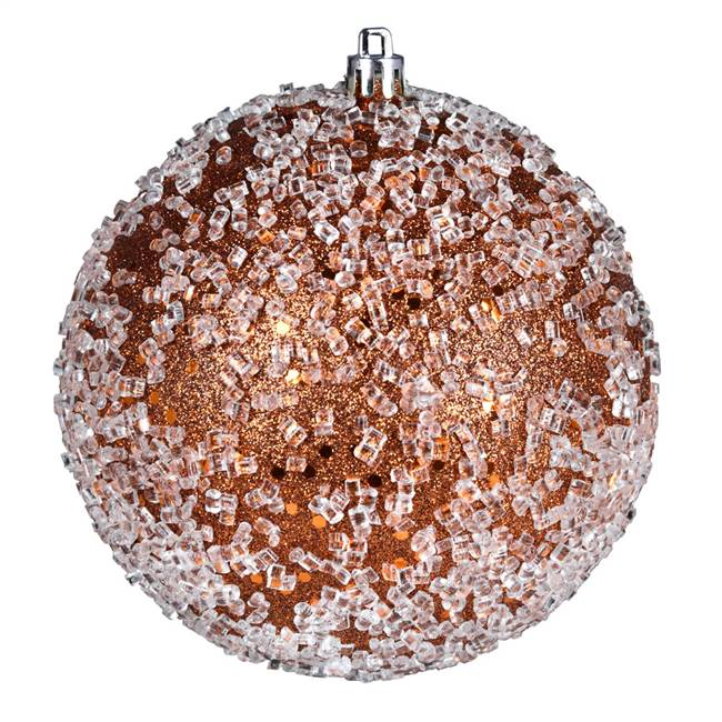 "4.75"" Copper Glitter Hail Ball 4/Bag"
