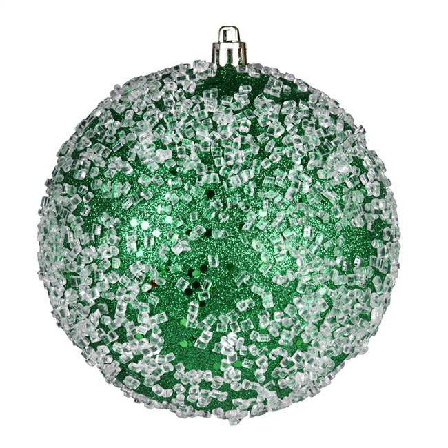 "10"" Green Glitter Hail Ball"