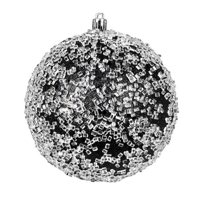 "10"" Black Glitter Hail Ball"
