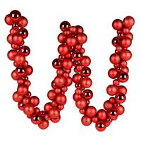 6' Red Asst Orn Ball Garland