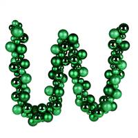 6' Green Asst Orn Ball Garland