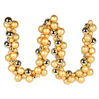 6' Gold Asst Orn Ball Garland