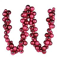 6' Berry Red Asst Orn Ball Garland